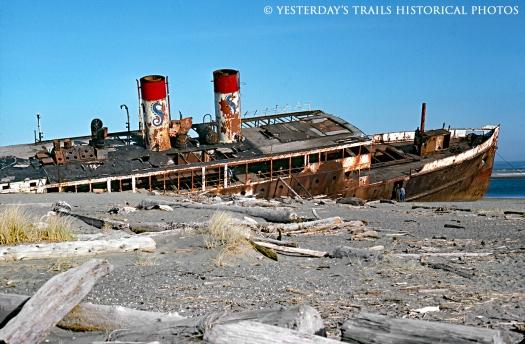 SS811  Wreck of CATALA at Ocean Shores WA 1976